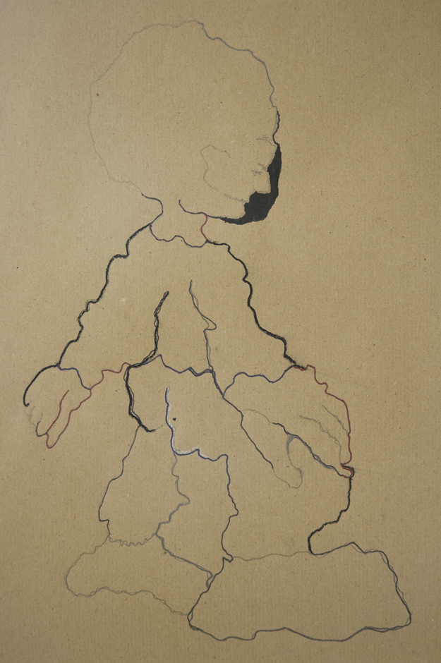 IDEAL DEUTSCHE BAHN MANN drawing based on old railway map from 1964. 30 x 40 cm