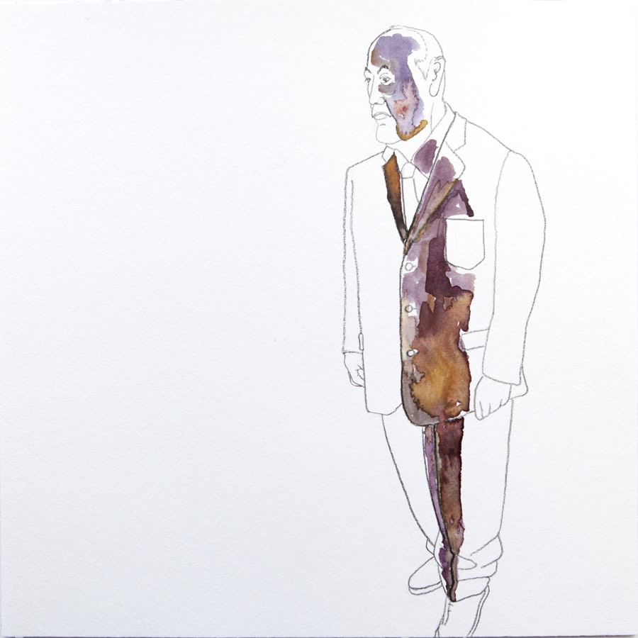 ideal man water color drawing 30 x 30 cm